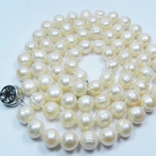 New fashion long chain jewelry making 8-9mm natural white freshwater cultured round pearl beads necklace gift party 25inchMY5012