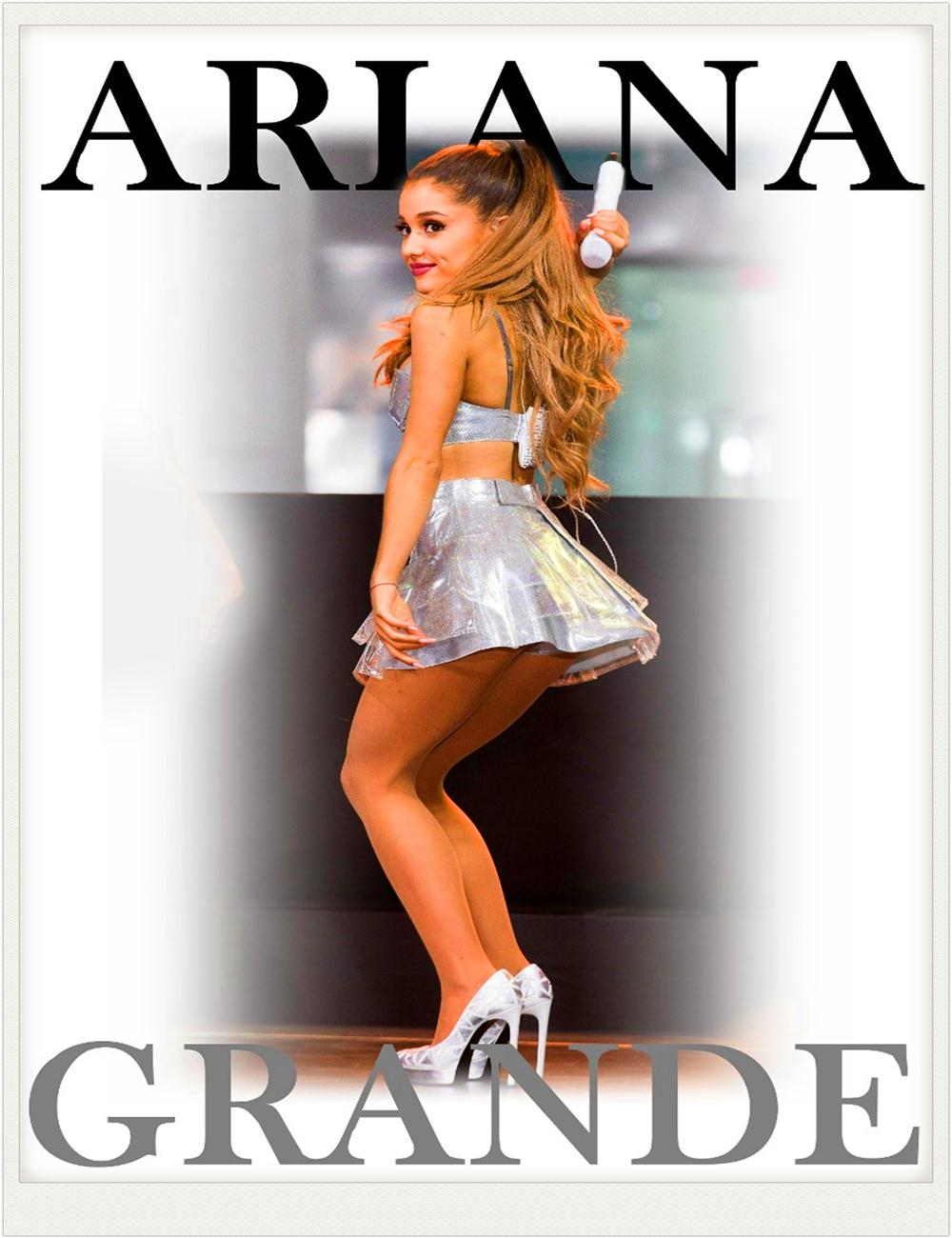 free shipping 2015 custom sexy ass ariana grande vintage posters and
