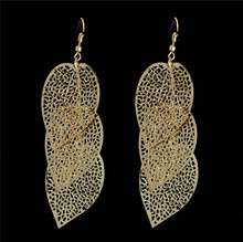H:HYDE Charming design Bohemia Vintage Ethnic Gold Color Square pendant shape dangle earrings For Women wholesale 2 Colors