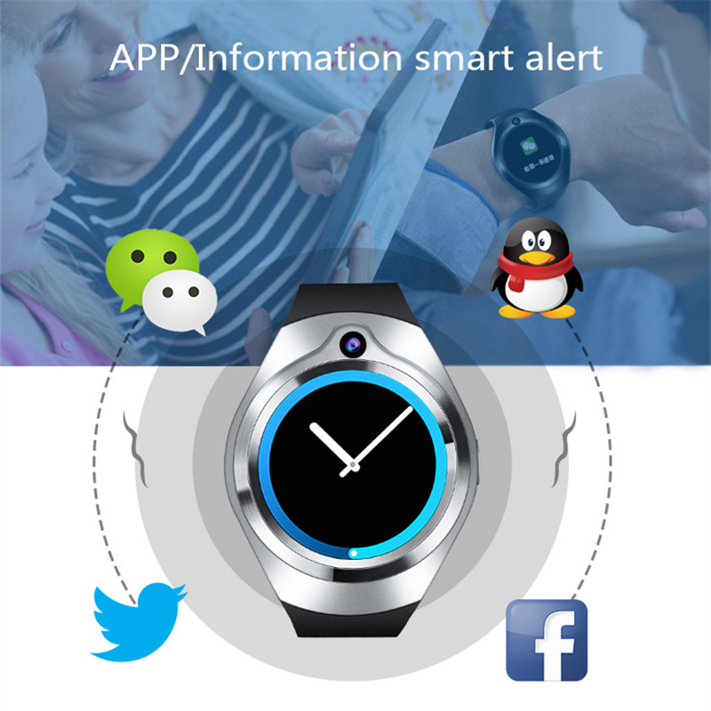 In stock Original Bluetooth Smart Watch Sport Full Amoled Screen SIM TF card smartwatch For Android & IOS samsung gear s2 S3 as2-in Smart Watches from Consumer Electronics    1