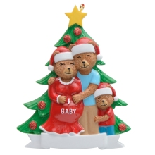 Wholesale Resin Maxora Pregnant Bear Family of 3 Personalized Ornament for Christmas tree, Holiday Home Decor, gift, keepsakes цены