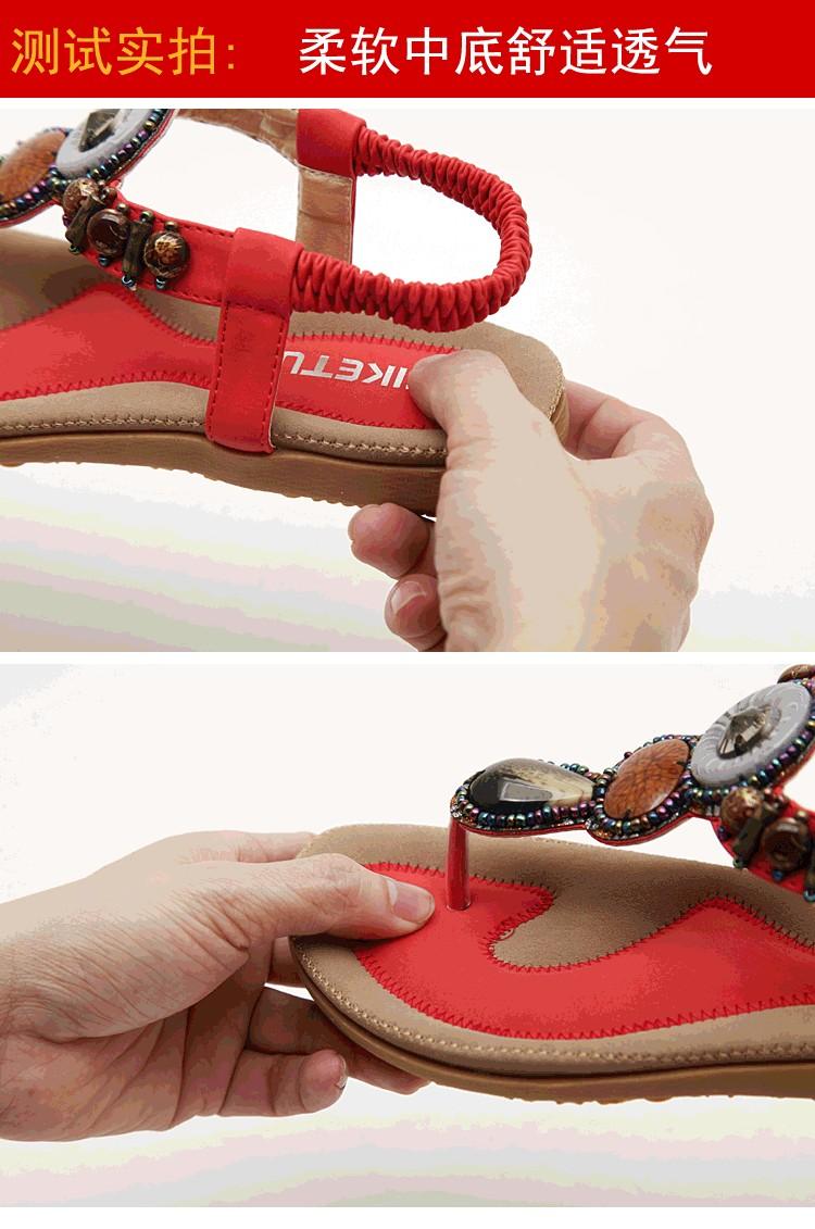 2016  New arrival women sandals fashion flip flops flat shoes causal Bohemia women shoes plus size wholesale  (4)