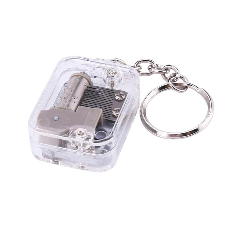 Music Box Movement Keychain Handy Crank DIY Play Set 18 Tones Best Mechanical Metal Music Boxes Clockwork Music Box with Screws