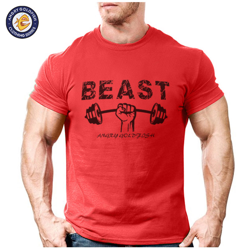 2017 summer fashion funny beast design t shirt men 39 s high for High quality custom shirts