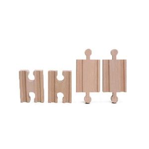 Image 2 - 10 יח\חבילה נקבה נקבה זכר זכר עץ רכבת מסלולי סט מתאמי רכבת אביזרי Eucational צעצועי bloques דה construccion