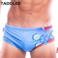 Taddlee Brand Sexy Swimsuits Men Swimwear Swimming Boxer Briefs Bikini 3D Print Low Rise Boardshorts Surfing Trunks Shorts Gay