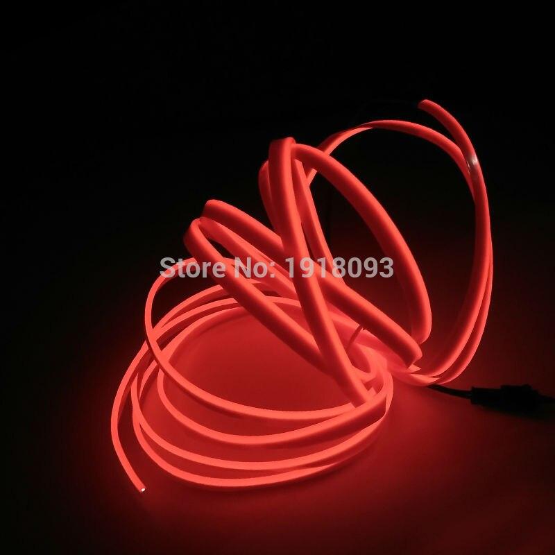 2017 Hot sales 2.3mm-skirt 3Meter 10 Color Choice Flexible EL Wire LED Strip Neon Light DC-5V Drive For Festival decoration