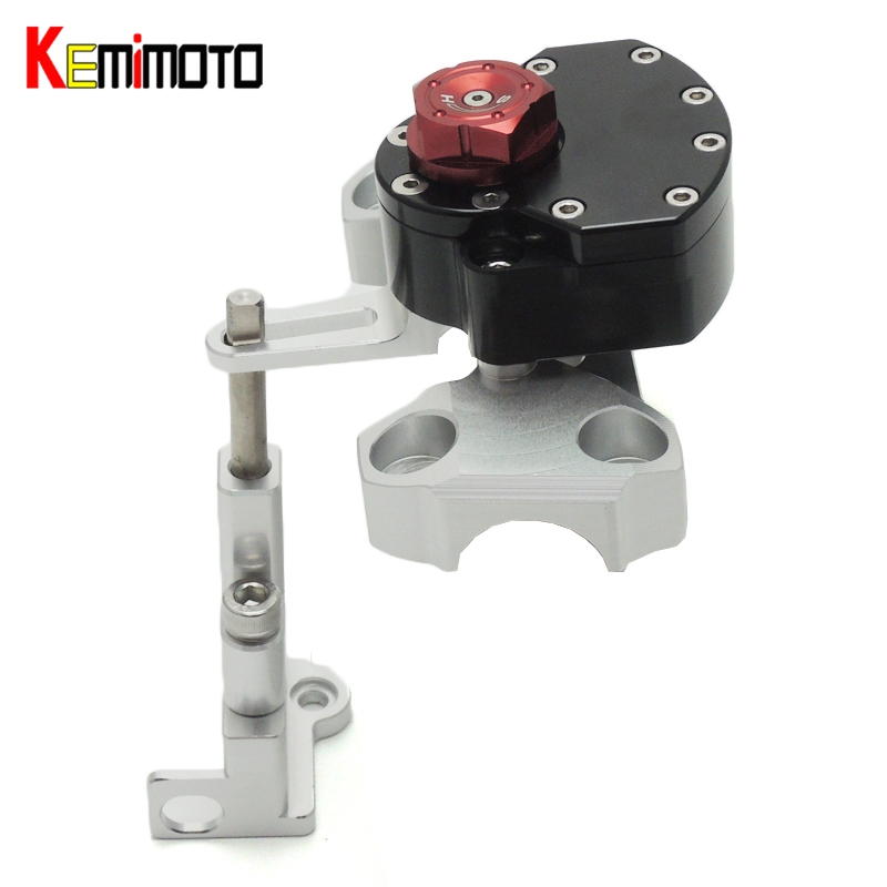 KEMiMOTO Motorcycle Accessories Steering Damper with Mounting Bracket Kit For YAMAHA MT09 MT 09 2014 MT-09 FZ-09 2014-2016 motorcycle steering damper stabilizer with mounting bracket kit for yamaha mt09 mt 09 fz09 fz 09 2014 2015 2016