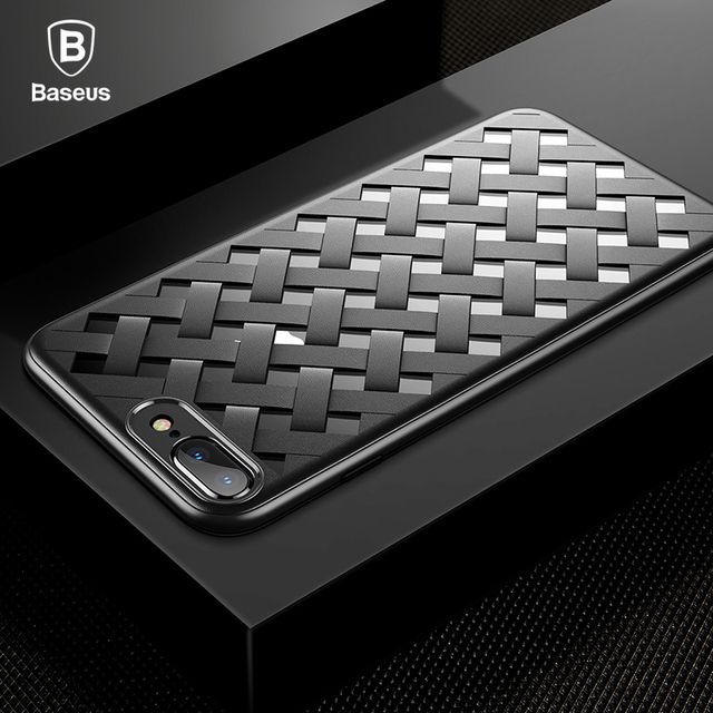 Baseus iPhone 7 8 Plus Weave Grid Design Silicone Back Case Cover