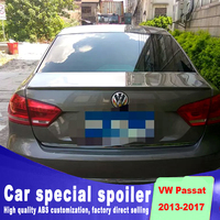 big model spoiler for Volkswagen rear trunk high quality ABS material spoiler for VW passat 2013 to 2017 up spoilers by primer