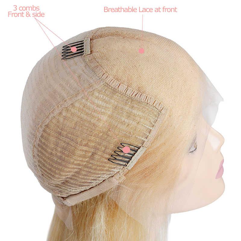 Али queen hair короткие парики человеческих волос 613/красный/синий/черный/фиолетовый/розовый парик Реми бразильские Ombre Синтетические волосы на кружеве парик блондинка Боб парики