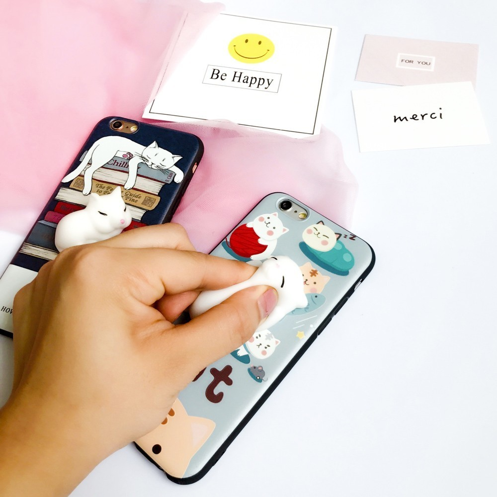 Cover iphone 5 squishy - Fencus For Iphone 5 5s Se 6 6s 7 Plus Phone Cases Squishy 3d Cute Cartoon Sleep Baby Cat Soft Silcone Back Cover Gel Shell Funda In Fitted Cases From