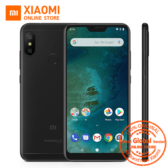 Global Versie Xiao mi mi A2 lite 4 Gb 64 GB 5.84 INCH full screen Snapdragon 625 Android een 4000 mAh AI Gezicht Unlock Mobiel