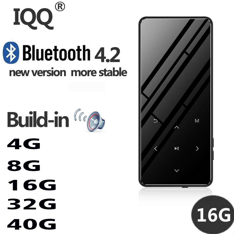 Bluetooth 4.2 touch screen MP3 player Built in 16G HIFI Lossess Portable Slim MP3 player with radio and loud Speaker For walking