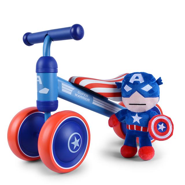 Lindo Mini Glide Bicicleta Equilibrio Bebé Andador Con Ruedas Sin Pedal de Pie Scooters Niño Caminador Cochecito de Juguete Niños Regalo de Cumpleaños