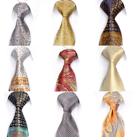 Pcs Assorted Wholesale Free Shipping Mens Neckties Ties 100% Silk Jacquard Woven Multicolor Pattern Paisley Checked Floral