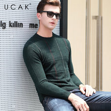 UCAK Brand Merino Woolen Sweater Men 2019 New Arrival Autumn Winter Cashmere Pullover Men O-Neck Pull Homme Plaid Sweaters U3034 marcela contreras abc of transfusion