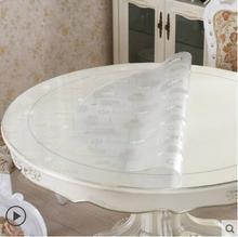 2017 neue PASAYIONE Runde Tischdecken Hause Esszimmer Tischdecke Einweg PVC Tischläufer Wasserdichten Tabelle Abdeckung 1,5mm Dicke