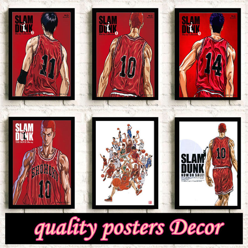 Slam Dunk Аниме Качество HD Reying фильм HomeSlam Dunk Искусство Декор комната гостиная Плакаты Стена искусство холст картина без рамки K99