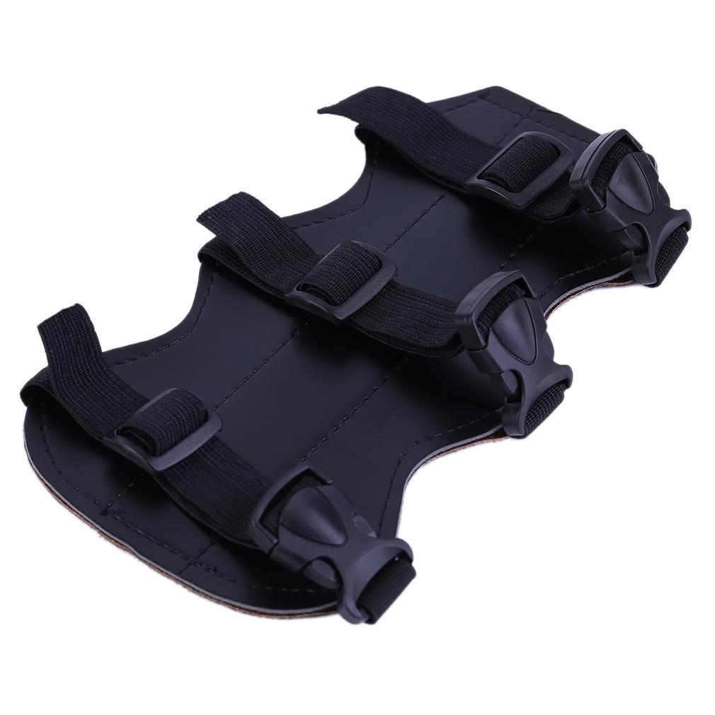 Archery Bow Arm Guard Protection Forearm Safe 3-Strap Camo PU Leather