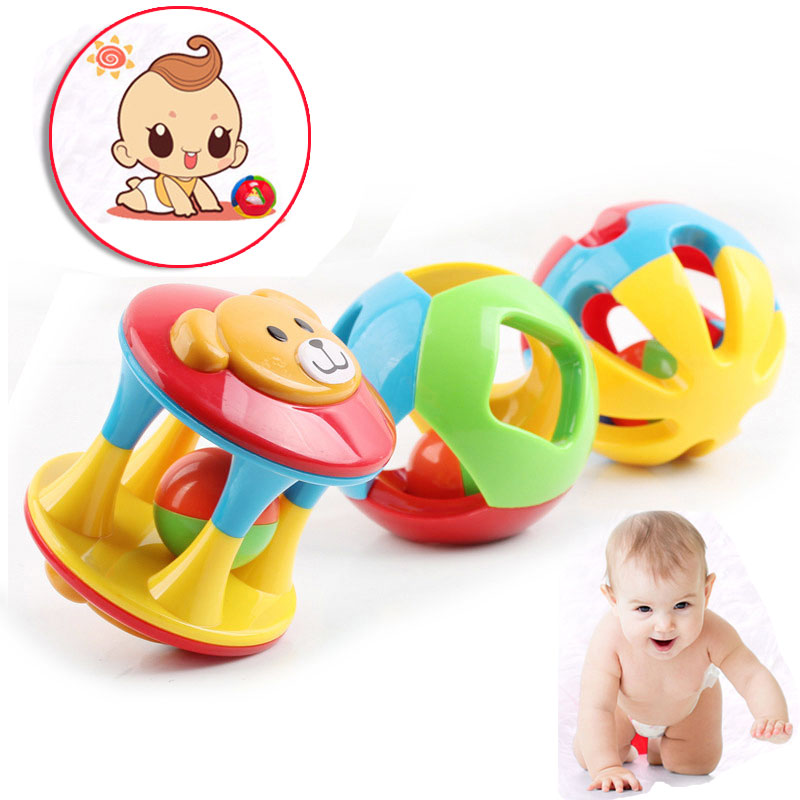 3 Pcs Children Bells Grasp Toys Plastic Jingle Rattle Rolling Ball Toy Intelligence Training For 0-3 Years Baby Kids 8