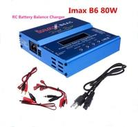 New iMAX B6 AC 80W B6AC Lipo NiMH 3S/4S/5S RC Battery Balance Charger + EU/US/UK/AU plug power supply wire free shipping