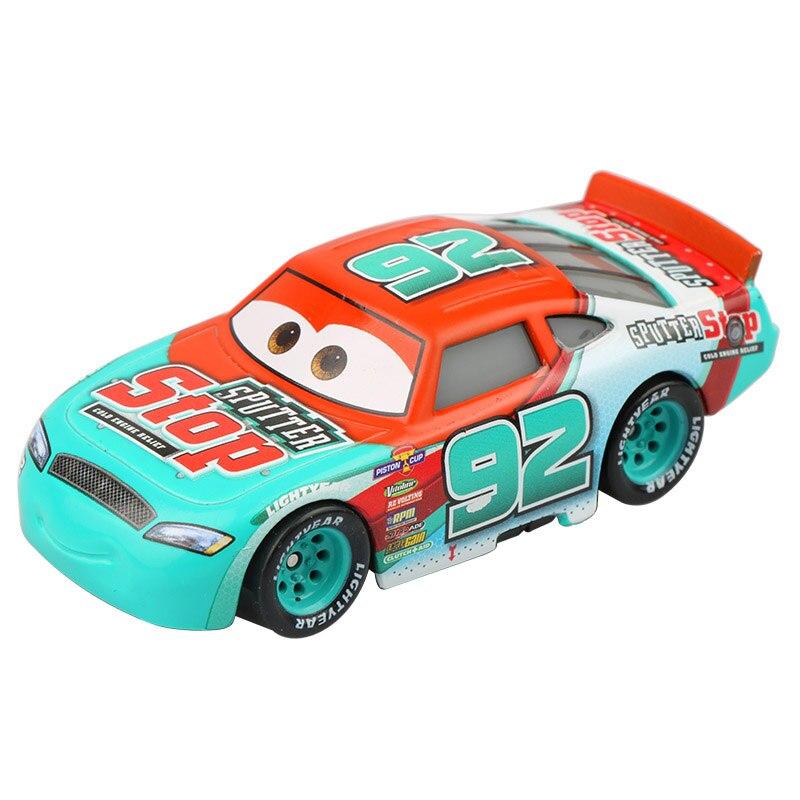 Disney Pixar Cars 3 Lightning McQueen New Role Nitroade Jackson Storm Sputter Stop Diecast Metal Model Car Gift Toys For Kid Boy