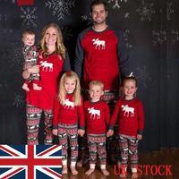 新年の衣装のため家族クリスマスファミリーマッチングパジャマセット大人子供赤ちゃんムースナイトウェアのfamilys