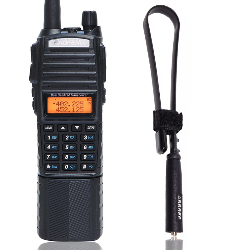 Baofeng UV 82 Plus Walkie Talkie 8W Powerful 3800mAh Battery With DC Connector UV82 Dual PTT