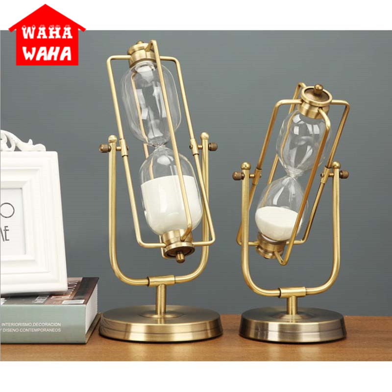 15 Min 30 Mintes Metal Sandglass Rotating Hourglass Sand Cutdown Clock Timers Desktop Home Office Decoration
