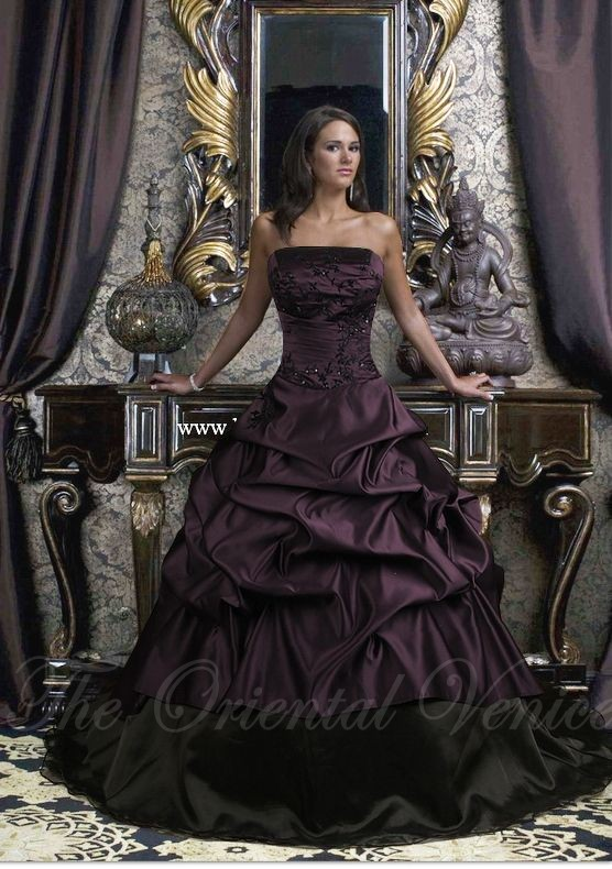 Compare Prices on Purple Gothic Wedding Dresses- Online Shopping ...