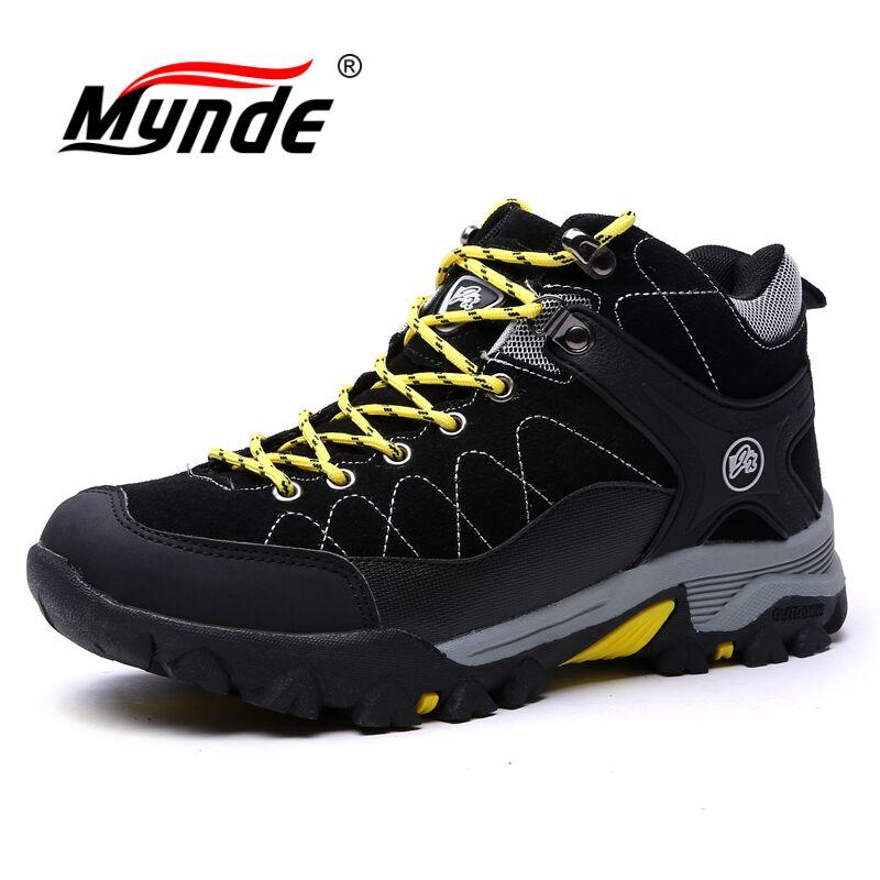 цены на Mynde 2018 New Men Boots for Men Winter Snow Boots Warm Fur&Plush Lace Up High Top Fashion Men Footwear Sneakers Boots 39-45 в интернет-магазинах