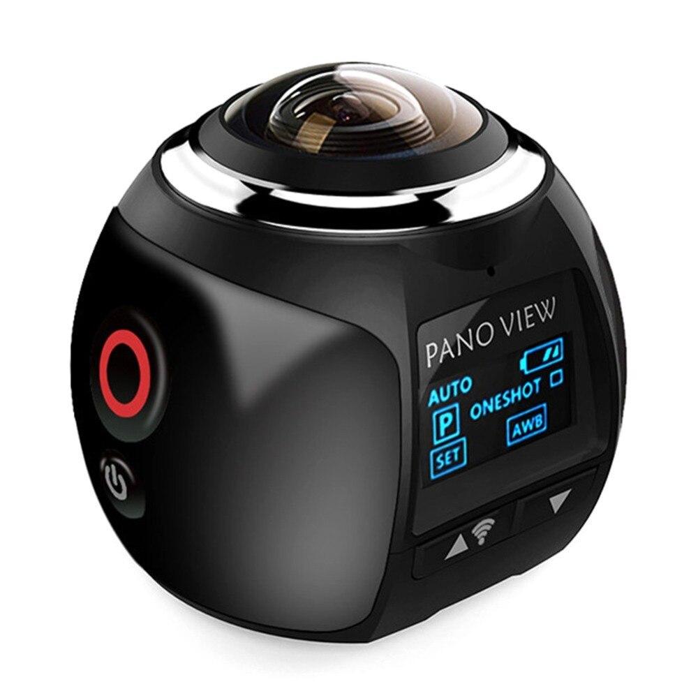 Nouvelle caméra d'action V1 4K 360 Mini caméra panoramique Wifi 2448*2448 caméra panoramique Ultra HD étanche Sport conduite caméra VR