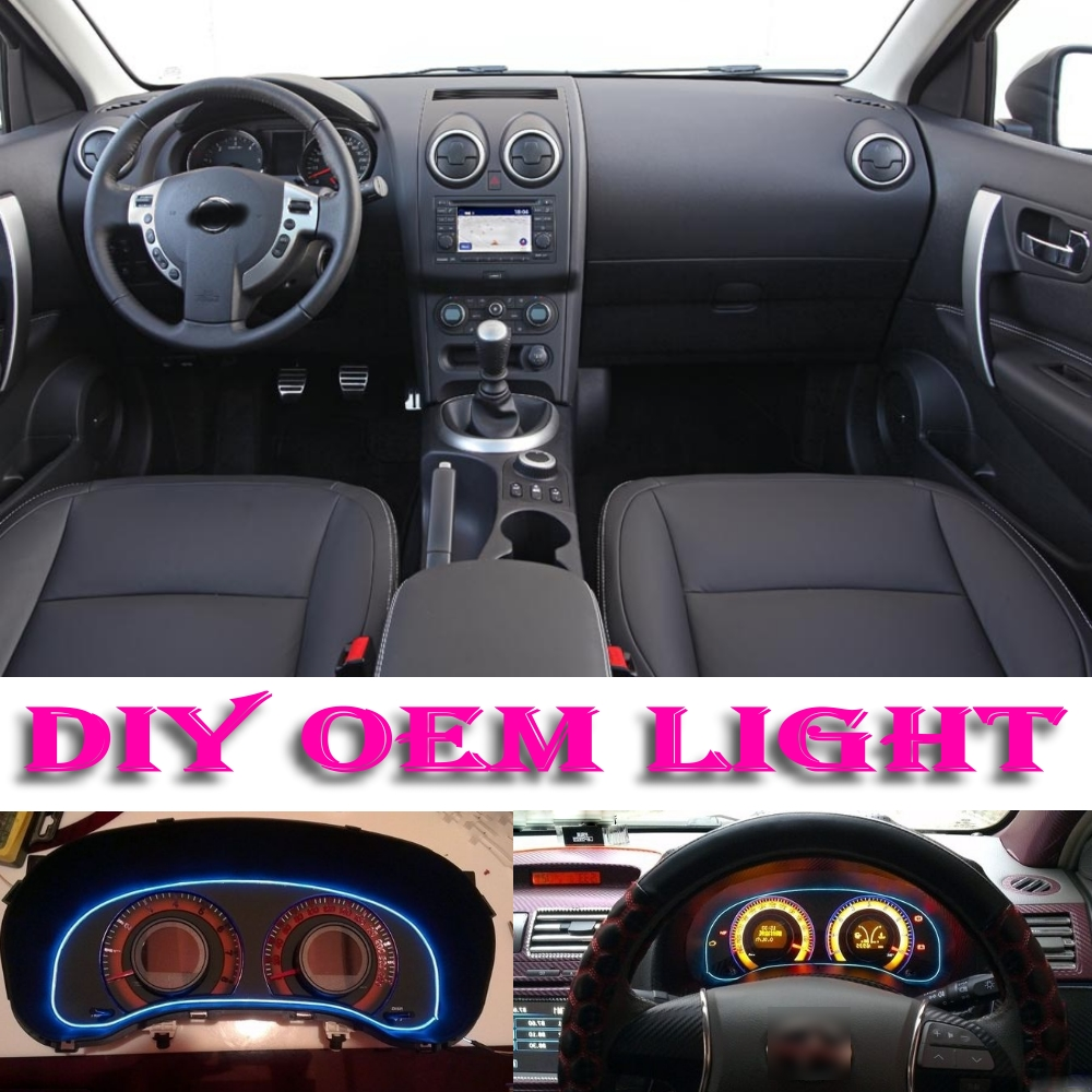 car atmosphere light flexible neon light el wire interior. Black Bedroom Furniture Sets. Home Design Ideas
