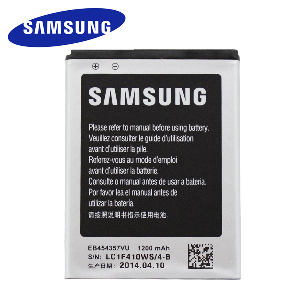 Original <font><b>Battery</b></font> EB454357VU for <font><b>Samsung</b></font> Galaxy Y S5360 Y Pro B5510 Wave S5380 Pocket <font><b>S5300</b></font> Chat B5330 1200mAh Li-ion image