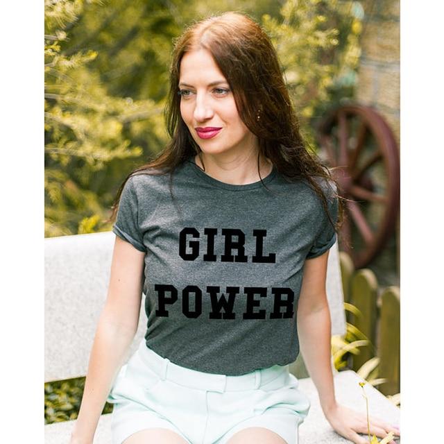 e938b9de EnjoytheSpirit Feminist Women Girl Power Positive Slogan Unisex Dark Grey  Fashion Color 100% Cotton Soft