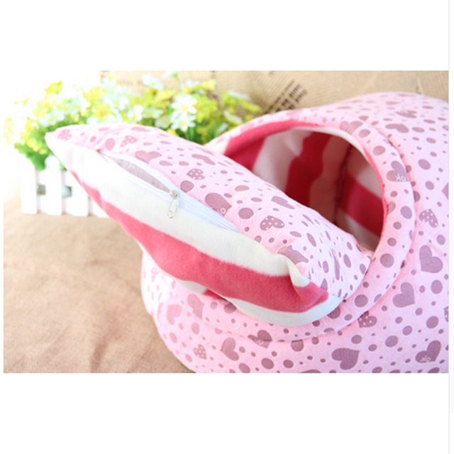 Pet cat dog bed house nest dog house cat bed kennel pet warm princess bed dog beds for small medium dogs cat house washable 3