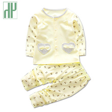 HH newborn Baby girl clothes set autumn&winter Cartoon Printing Tops+Casual Pants 2Pcs long sleeve Outfits infant clothing