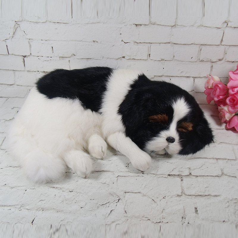 simulation cute sleeping dog large 34x25cm model polyethylene&furs dog model home decoration props ,model gift d697 large 21x27 cm simulation sleeping cat model toy lifelike prone cat model home decoration gift t173
