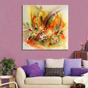 Image 2 - Mintura Modern Artist Hand Painted Abstract Flowers Oil Painting On Canvas Wall Painting Wall Picture For Living Room Home Decor