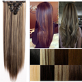 "Professional Real New THICK 26"" 66CM Straight Clip In Hair Extensions Full Head 8 Pcs Women Lady US Local Fast Shipping"