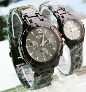 2016 Newest Fashionable Korean Retro Circular Watch For couple   Waterproof Watch  With Metal Ban