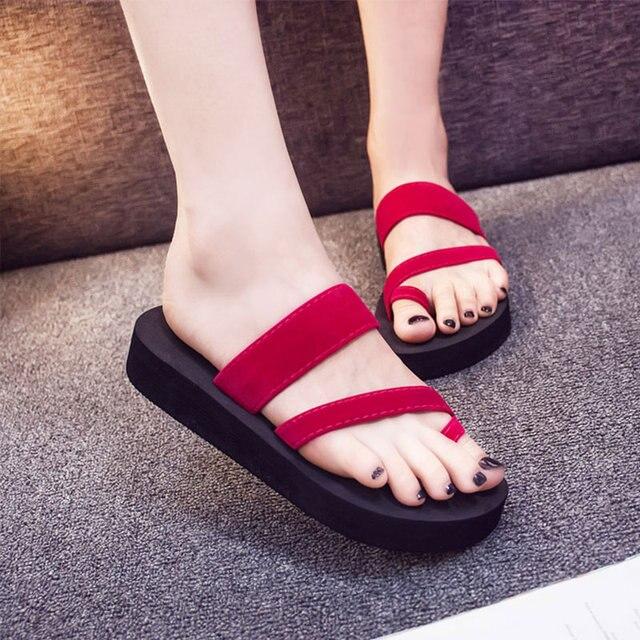 MCCKLE Novas Mulheres Chinelos Não-Deslizamento Sapatos de Plataforma Confortáveis Chinelos de Moda Feminina Chinelos de Praia Ao Ar Livre Calçados Das Senhoras