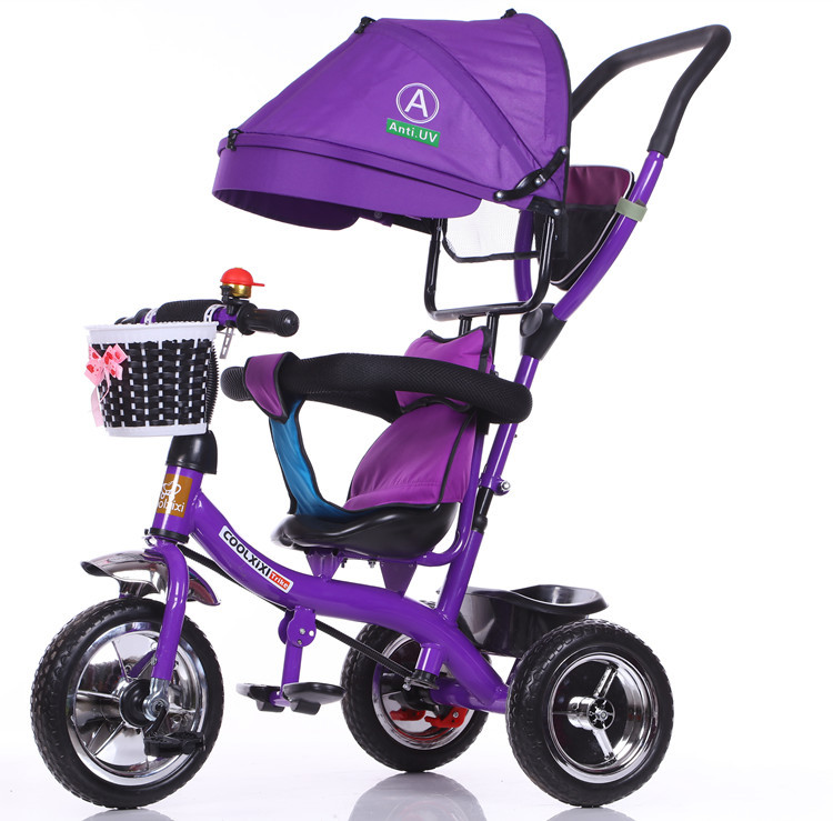 children tricycle baby bike Baby carriage 1-3-5 year old trolley baby baby stroller kids bike Carry an umbrella tent
