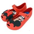 Memon mouse y Minnie Niñas Sandalias Del Bebé zapatos de La Jalea de Pescado suave plantilla PVS Zapato negro rojo rosa color Tamaño 6-11