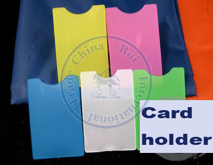 mulit color card holders sleeve bag hard vertical pvc name credit card case plastic cn post - Plastic Credit Card