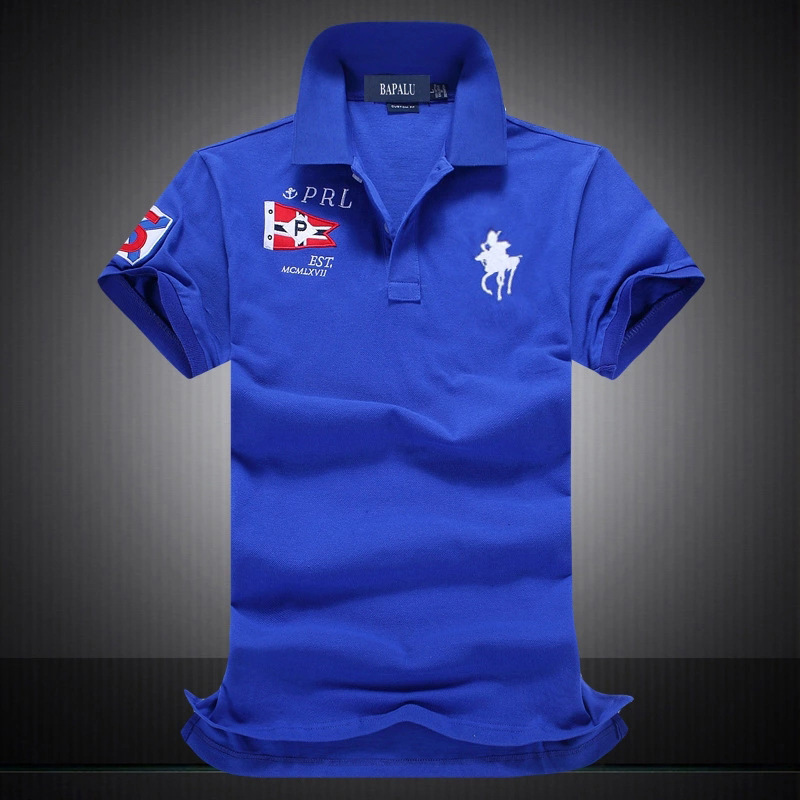 2019 Famous Brand 100% Cotton Men   Polo   Shirts Short Sleeve pxg golf Breathable Mens big horse logo   Polo   Shirt   Polos   men homme