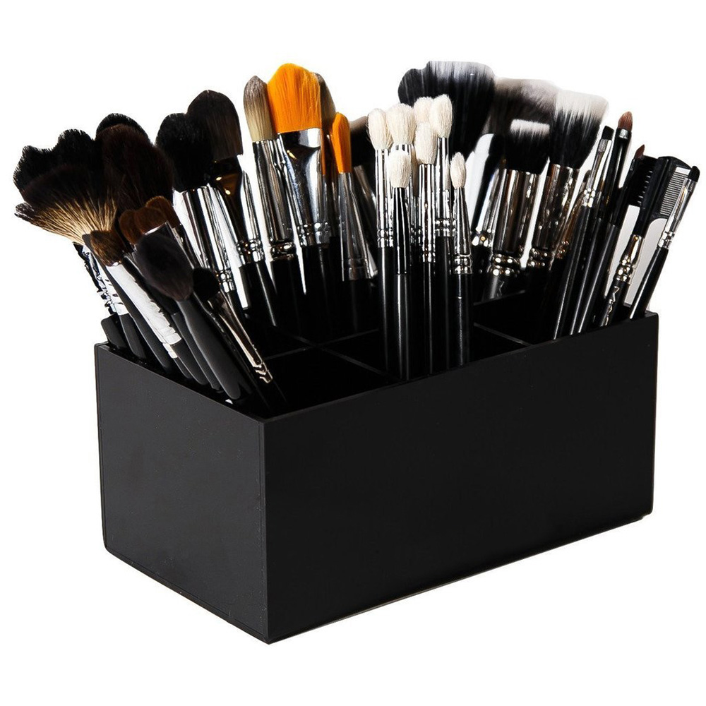 New 6 Lattices Brush Storage Box Makeup Brushes Eyebrow Pencil Liner Lipstic Organizer Cosmetic Holder Storage Boxes
