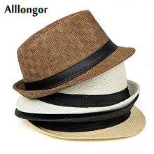 Модная летняя кепка Chapeu ковбойские шляпы соломенные шляпы мужские черные одноцветные пляжные Панамы шляпа джазовая Шляпа Fedora sunhat gorro hombre