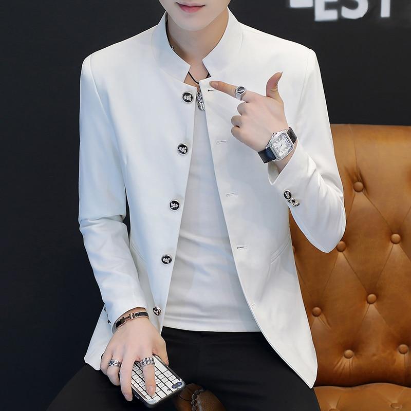 HO 2020 Male Slim Handsome Handsome Collar Blazer 5 Buckle Youth Student Trend Casual Blazer